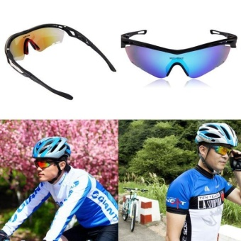 Details about WOLFBIKE(R) Polarized Cycling Sunglasses Bike GogglesOutdoor Sports Glasses Black - intl