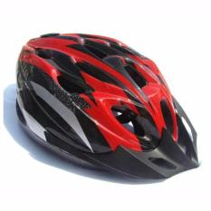 EPS Cycling Helmet EPS Foam PVC Shell - x31 - Merah-Hitam