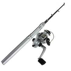 Fishing Rod Teleskopik Portabel Mini (Perak)