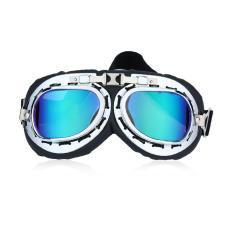 Gift Vintage Anti-UV Motorcycle Scooter Pilot Goggles Helmet glasses Motocross