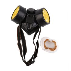 GOOD Emergency Survival Safety Respiratory Gas Mask With 2 Dual Protection Filter Black & yellow