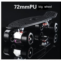 High Quality 72mm Big Wheel Mini Skateboard Banana Style For Adult Child - intl