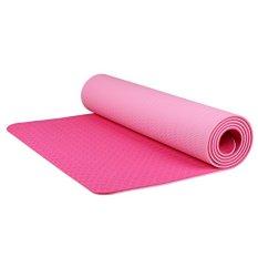 Holywings - Matras Yoga Anti Selip Kualias Bagus / Matras Yoga Tebal 7mm / Matras Olahraga [Pink]