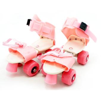 Harga TSH Sepatu Roda 4 Anak / Dry Skate Sepasang + Tas - Pink