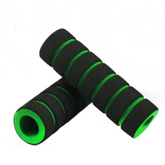 Cocotina 1 Pair Nonslip Foam Sponge Bike Racing Bicycle Motorcycle Handle Bar Grip Cover - Green