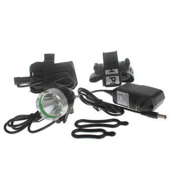 Zweihnder ZYW-04 1000lm 3-Mode 1xCree XM-L2 U2 Waterproof Bike Lamp Headlamp - Black (4 x 18650)