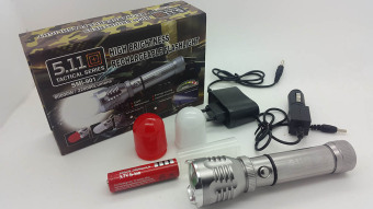 Senter Cree 511 Tactical series with zoom 80.000w / 220.000 lumens