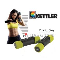 KETTLER Aerobic soft Dumbbell - 1kg/pair (2x 0.5kg) Fitness senam Aerobic Dumbell -0930