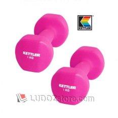 KETTLER Neoprene DUMBBELL 2kg/pair ( 2x 1kg ) Dumbell Senam Aerobic dan Fitness -0801