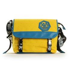 Korean Fashion Casual Canvas Bag Handbag Shoulder Bag Messenger Bag Student Backpack Outdoor Sports Backpack Street Oblique Yellow Blue