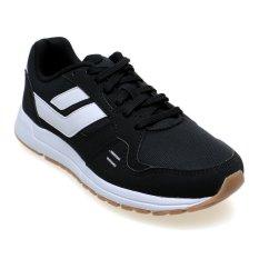 League Cruz Sepatu Lari Pria Black-White-Gum Rubbe