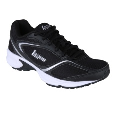 League Legas Series Neptune Back to School Series LA Sepatu Lari - Black/ White/ Met. Silver