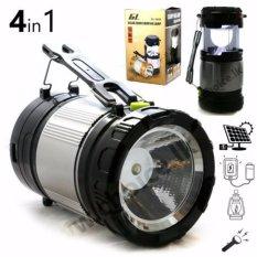 Lentera camping Rechargeable Light  6 LED dengan Senter/ Lampu Camping Tenaga Solar - ZM9599