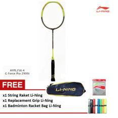 Li-Ning Badminton Racket G Force Pro 2900i GRATIS Tas Raket + Extra Grip + String Li-Ning