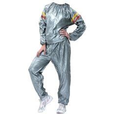 Lucky -Sport Sauna Suit Baju Sauna Pembakar Lemak - Silver