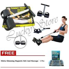 Lucky - Super Tummy trimmer Alat Olahraga Pengecil Perut + Gratis Nikita Slimming Magnetic Belt And Massage - Korset magnet Pelangsing Perut - 1 Pcs