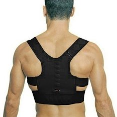 Makiyo Adjustable magnetic posture support corrector back pain brace belt(L) - intl