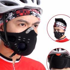 Masker Anti Polusi SuperMask SOS dengan Filter Debu Udara 0.3 micron Masker Sepeda Motor Berkendara industri Touring