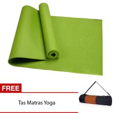 Matras Yoga Pilates Anti Slip Anti Licin 6mm Termasuk Tas Matras - Hijau