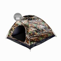 Maxxio Tenda Camping 3 Orang 200cm x 150cm Double-Layered Door - Motif Loreng
