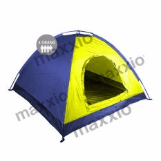 Maxxio Tenda Camping 4 Orang 200cm x 200cm Double-Layered Door - Kuning-Biru