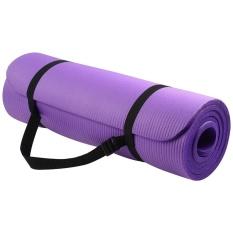 Multifunctional Yoga Mat 10mm High Density NBR Tool - Purple - intl