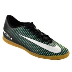 Nike Mercurial Vortex III IC Men's Sepatu Futsal - Hitam-Putih-Paramount Blue