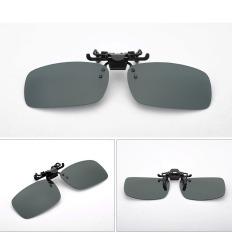 OEM Mirrored Clip Sunglasses Flip Up Plastic Sunglasses Men Driving 3 Styles