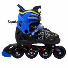 Power King Sepatu Roda Inline Skate BIRU / Sepaturoda Inlineskate Roda Full Karet Blue