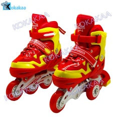 Power Sport 4000 inLine Skate Sepatu Roda 2 in 1 Adjustable Wheel - Merah