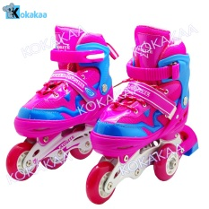 Power Sport 4000 inLine Skate Sepatu Roda 2 in 1 Adjustable Wheel - Pink