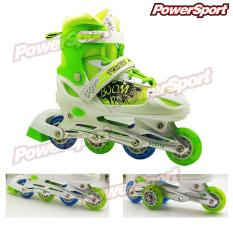 PowerSport Boom inLine Skate Sepatu Roda Light-Up Adjustable Wheel L (38-42)