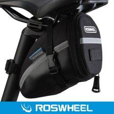 Roswheel TAS SADEL SEPEDA Ekor Yang Menghubungi Ke Velcro (Hitam)