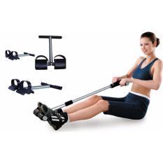Tummy Trimmer Alat Olahraga Pengecil Perut - Alat Pembakar Lemak - Alat Olahraga Fitness - Hitam + Free Ikat Rambut - 1 Pcs