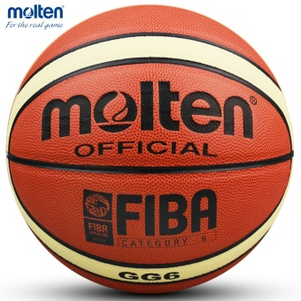 Women Basketball Genuine Molten GG6 Basketball Ball PU MateriaOfficial Size6 Basketball Free with Net Bag+ Needle+Pump - intl