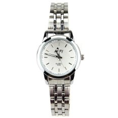 6046 Quartz Watch Ms Steel Band Fashion Lovers Table Student Table Women's Watch Sports Watches For Women's Watches White (Intl)