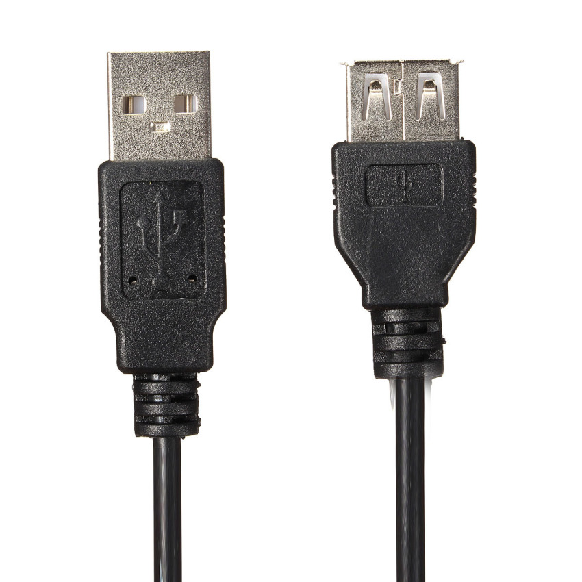 60CM High Speed USB 2.0 Cable Type A Male to Type A Female Extention Cord Lead (Black) (Intl)