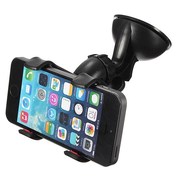 60°Rotation Suction Cup Car Windshield Mount Holder for CellPhone Black (Intl)