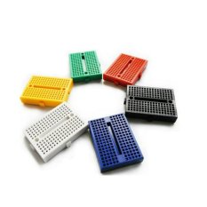 6pcs Colorful Mini Solderless 170 Tie Points Breadboard