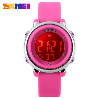 7 Color Backlight 50 Meters Waterproof Sport Digital Wristwatch For Children (1 * CR2025) - Intl