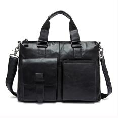 100% Genuine Leather Men Bags New Men's Briefcase Business Crossbody Bags Shoulder Bags Men Travel Bags Fashion Tote Man Messenger - Intl