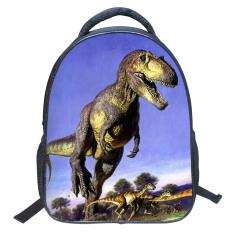 14.3D Cartoon Vivid Running Dinosaur School Backpacks For Girls / Boys Go Back To School - Intl