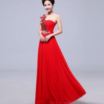 Harga 1601003r Gaun Pesta Merah Party Dress Pricenia Com