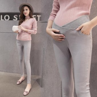 6f9bea0d6f1c4 1611# Low Waist Skinny Belly Maternity Legging Korean Fashion Spring Autumn  Thin Pencil Pregnancy Pants
