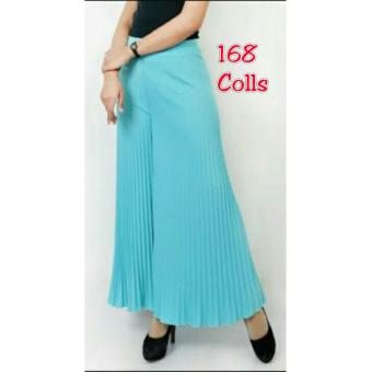 168 Collection Celana Alexandra Kulot Pant-Biru Muda