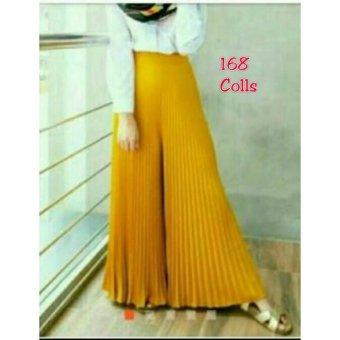 168 Collection Celana Alexandra Kulot Pant-Kuning