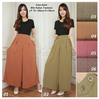 168 Collection Celana Gifta Kulot Long Pant-Pink 05