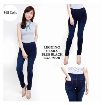 168 Collection Celana Jegging Reguler Clara Jeans Pant-Biru Tua