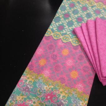 1SET Kain Batik Kombinasi Bahan Katun Soft Dan Embos Bawahan Kebaya KKKS011