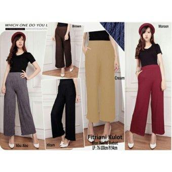 1x SB Collection Celana Kulot Fitriani Long Pant Maroon